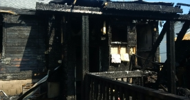 Fire Damage to Rear of House