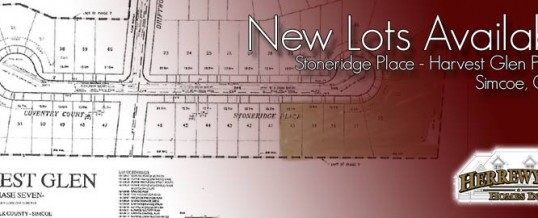 New Lots Available – Harvest Glen – Phase 7